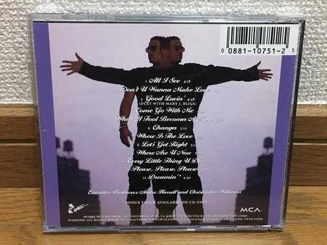Christoper Williams / Changes ソウル R&B 名盤 輸入盤(MCA盤 品番UPTD-10751) 廃盤 Mary J.Blige Stephanie Mills FATHER MC Al B. Sure!_画像2