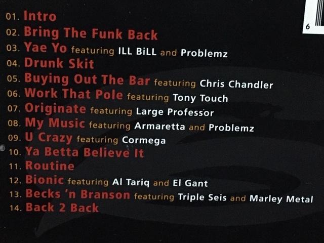THE BEATNUTS / THE ORIGINATORS ヒップホップ ファンク 名盤 輸入盤(品番:LSR9216) 廃盤CD Tony Touch Large Professor Al Tariq Cormega_画像3