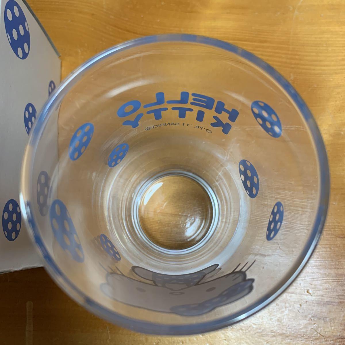 ハローキティ 清涼グラス 1個 洋服の青山 ノベルティ新品 未使用品 送料無料_画像5
