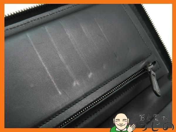 ボッテガヴェネタ ドキュメントケース 169730 V4651 トラベルケース イントレチャート 黒 レザー 箱 美品 質屋 つじの_画像8