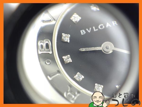 ブルガリブルガリ BB23SS レディースウォッチ 12PD ダイヤ 黒色文字盤 SS クォーツ 質屋 つじの_画像8