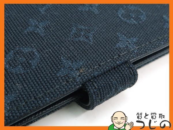ルイヴィトン アジェンダPM モノグラムミニ 手帳 ネイビー R20913 紺色 キャンバス 美品 布袋付 質屋 つじの_画像5