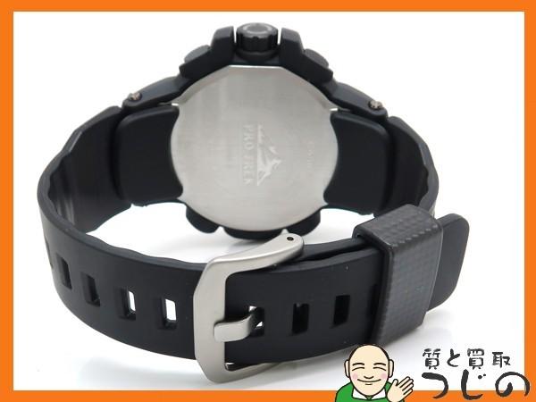 カシオ プロトレック PRW-6100Y-1JF 電波ソーラー 黒×オレンジ トリプルセンサー 箱付 美品 質屋 つじの_画像3