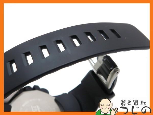 カシオ プロトレック PRW-6100Y-1JF 電波ソーラー 黒×オレンジ トリプルセンサー 箱付 美品 質屋 つじの_画像7