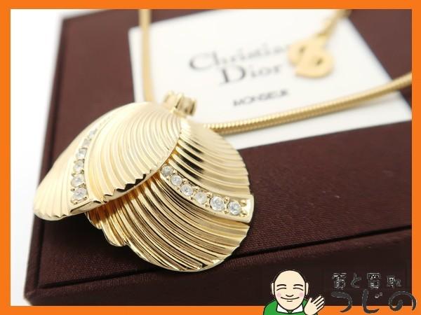 ディオール GP ネックレス ラインストーン Chr.Dior GERMANY ドイツ製 アンティーク 質屋 つじの_画像2