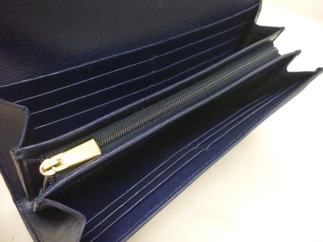 FURLA フルラ レザー 二つ折り 長財布 青紫系 ※定形外510円発送可_画像4