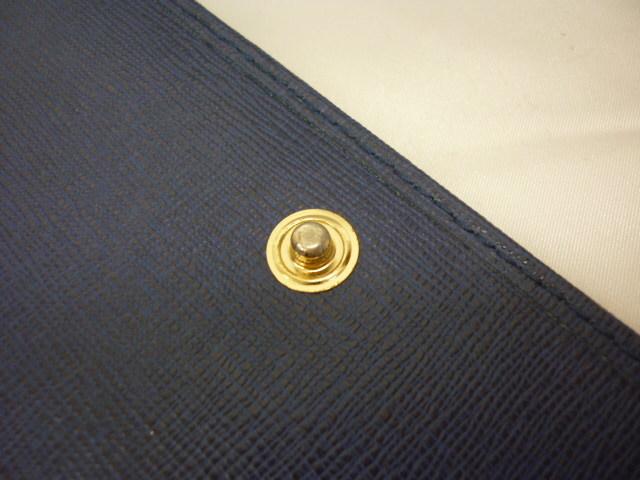 FURLA フルラ レザー 二つ折り 長財布 青紫系 ※定形外510円発送可_画像8