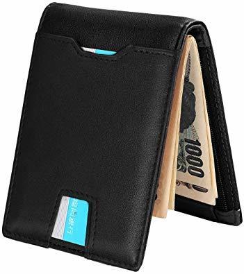 Ca3100v ◆▲L POオールブラック SHINPACKZM-Gマネークリップ 小銭入れ付き メンズ 財布 二つ折り 7枚カ_画像2