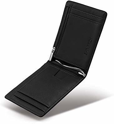 Ca3100v ◆▲L POオールブラック SHINPACKZM-Gマネークリップ 小銭入れ付き メンズ 財布 二つ折り 7枚カ_画像1