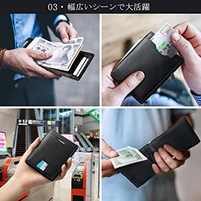 Ca3100v ◆▲L POオールブラック SHINPACKZM-Gマネークリップ 小銭入れ付き メンズ 財布 二つ折り 7枚カ_画像5
