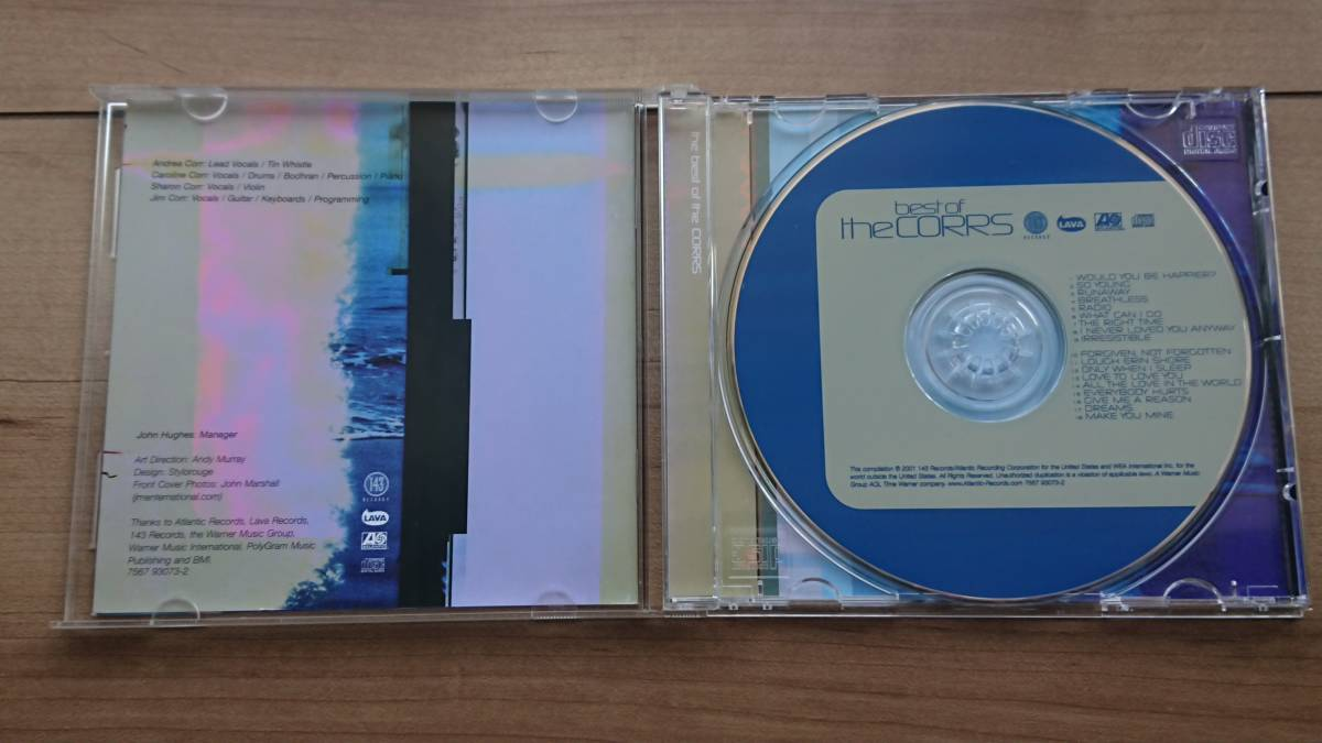 ☆CD ザ・コアーズ(The CORRS) 「best of the CORRS」 輸入盤☆_画像2