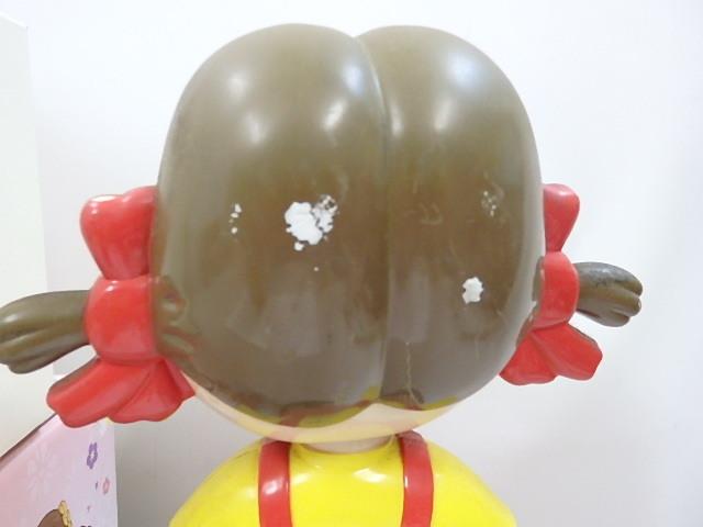 フィギュア ペコちゃん ボブルヘッド 首ふり 人形(髪にハゲあり) スポーツポコちゃん+着物ペコちゃん 2個未使用か _画像4