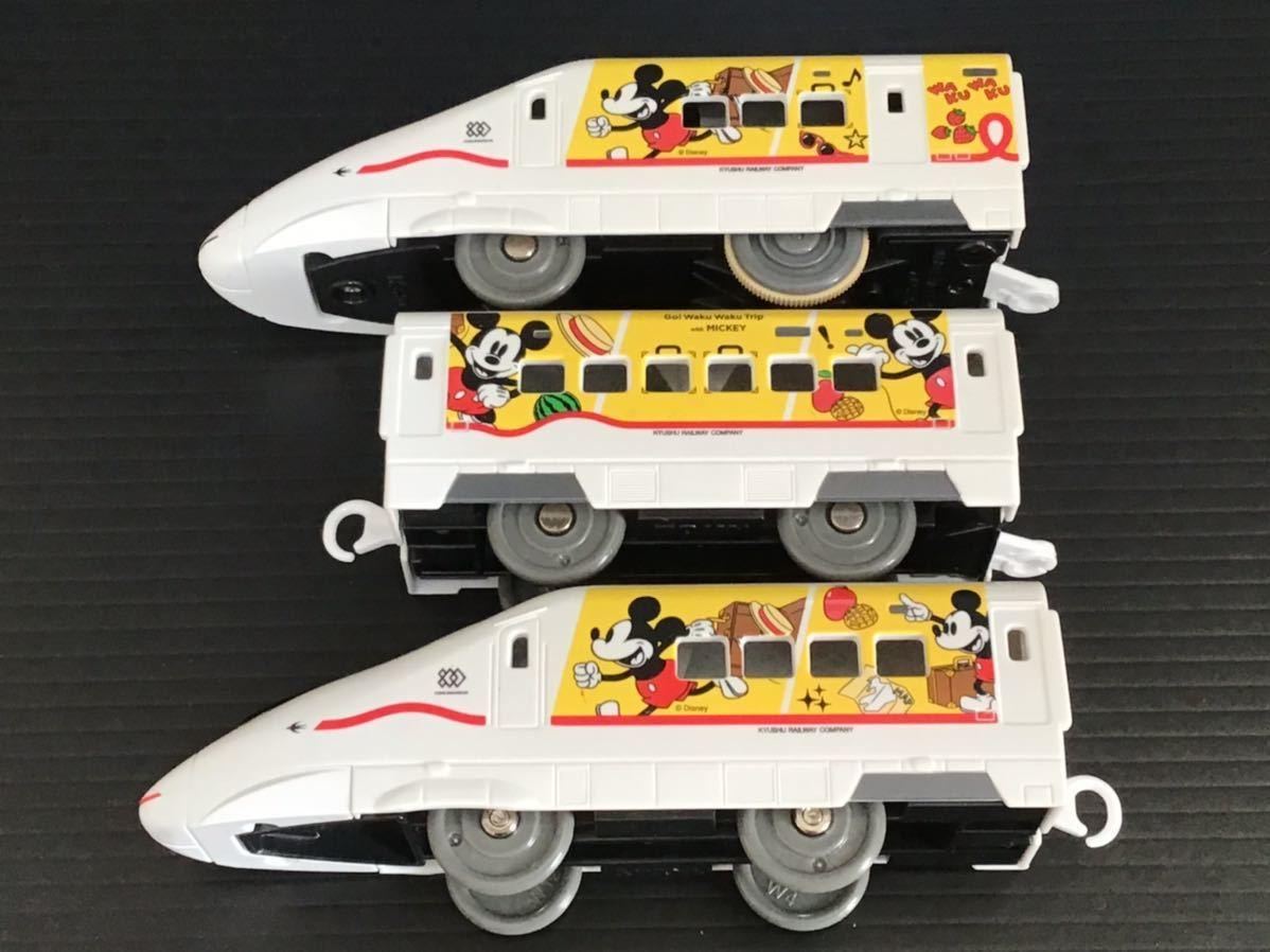 プラレール 車両 大量 新動力モーター JR九州 ワクワクトリップ ミッキー つばめ_画像5