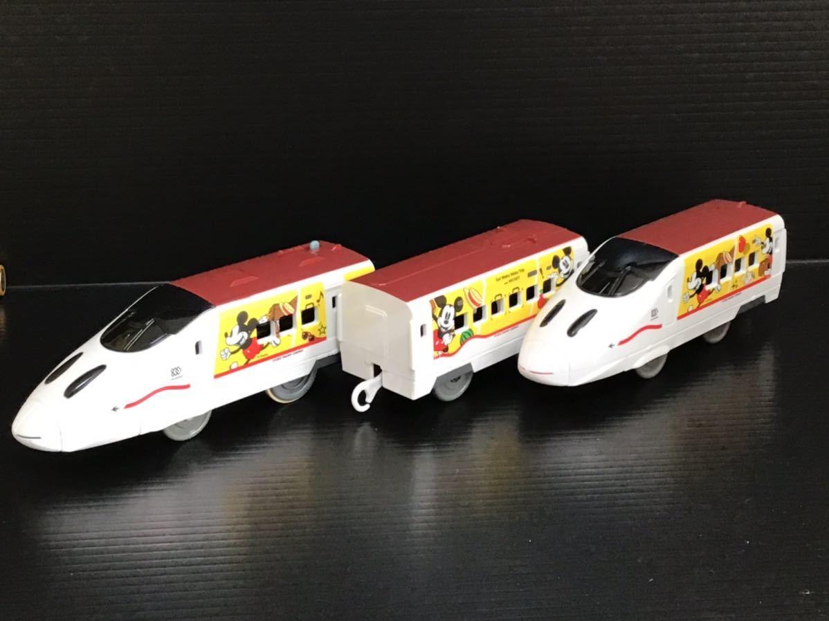 プラレール 車両 大量 新動力モーター JR九州 ワクワクトリップ ミッキー つばめ_画像1