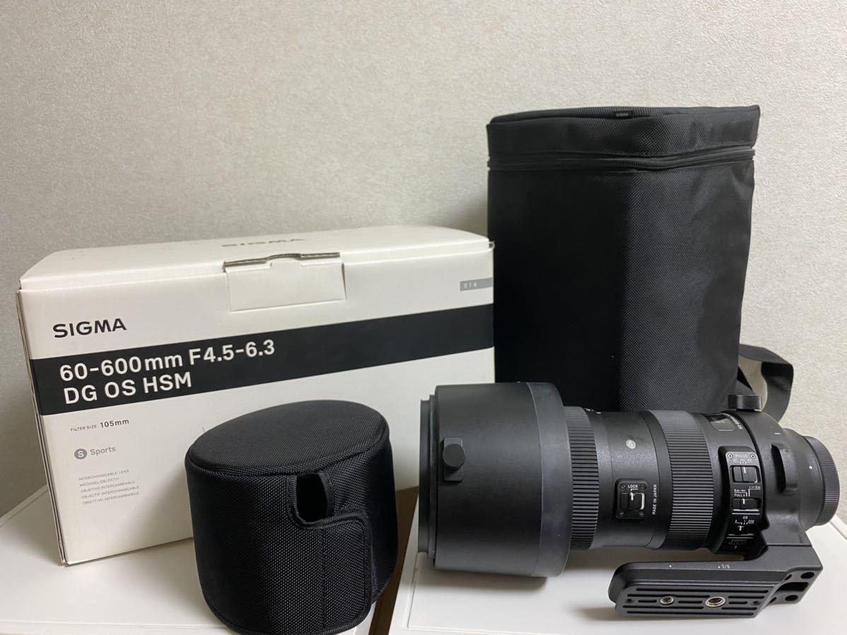 【送料無料】SIGMA シグマ 60-600mm F4.5-6.3 DG OS HSM sports for Canon キヤノン 一眼 カメラ レンズ