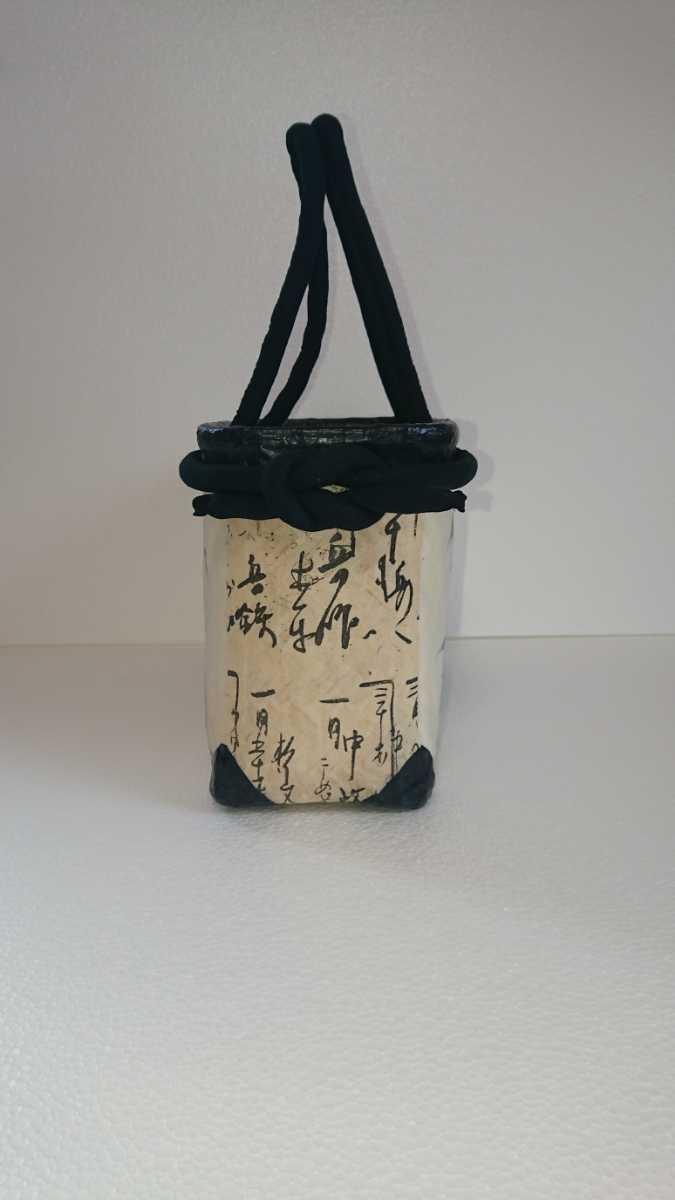 一閑張り かごバッグ No.29 牡丹刺繍_画像4