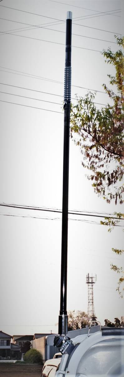 am-VU 目立つ!新品未使用 トップローディング ★アマチュア無線用デコトラデュアルバンドV/Uアンテナ(145/430MHz)★日本製_画像3