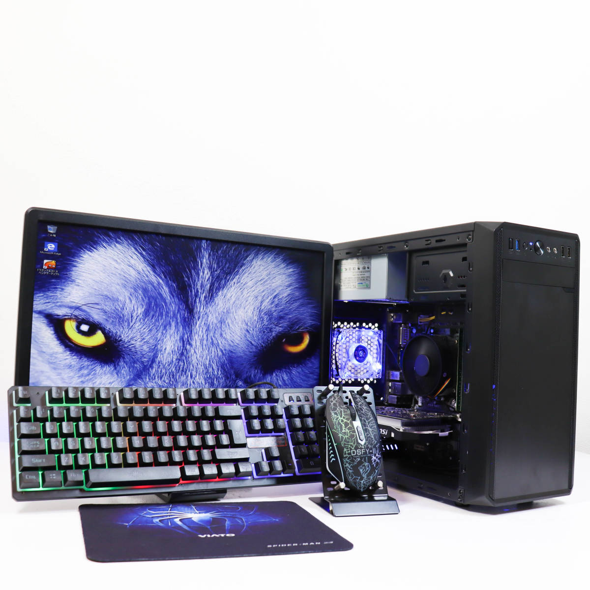 【極品ゲーミングPC一式セット】i7-2600/GTX1050/FX/株/ストレージ5700GB/office2020/マルチ画面出力/SSD240GB/Wifi接続/USB3.0/領収書可