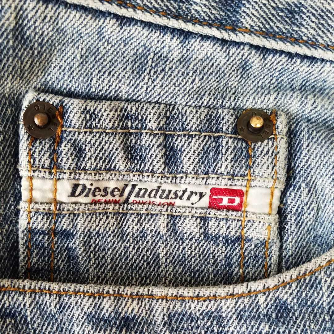 DIESEL ダメージデニムジーンズ 33インチ(L~XL) ディーゼル メンズデニムパンツ ストレート アメカジ