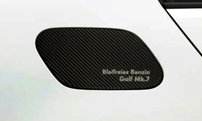 VW ゴルフ7/ゴルフ7.5 カーボンフューエルリッドガーニッシュ【GENUINE PARTS】新品/GOLF7/GOLF7.5/_装着イメージ(参考写真)
