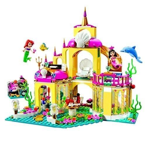 ★最安 安心の国内対応★LEGO レゴ ブロック プリンセス 41063 互換品 アリエルの海の宮殿 ミニフィグ付き_画像2