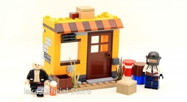 ★最安 安心の国内対応★MOC LEGO レゴ 互換 PUBG プレイヤーアンノウンズ バトルグラウンズ 建物 ミニフィグ 6体セット大量武器装備付き_画像2