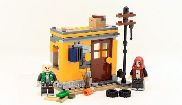 ★最安 安心の国内対応★MOC LEGO レゴ 互換 PUBG プレイヤーアンノウンズ バトルグラウンズ 建物 ミニフィグ 6体セット大量武器装備付き_画像3