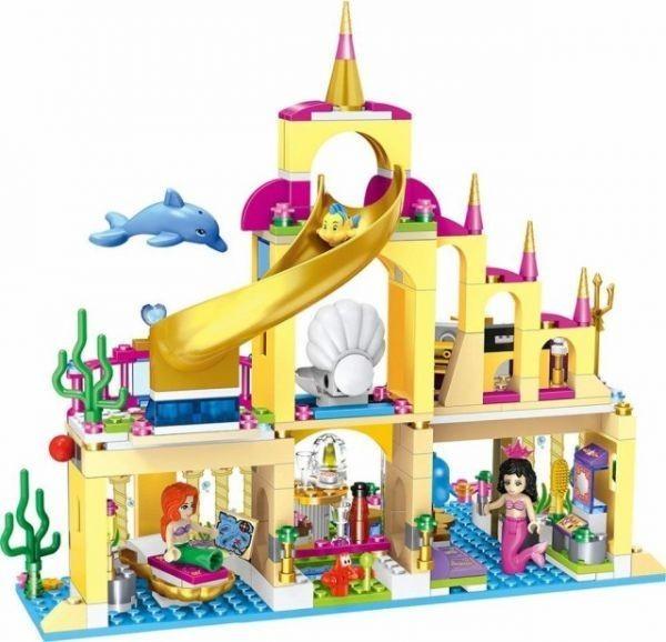 ★最安 安心の国内対応★LEGO レゴ ブロック プリンセス 41063 互換品 アリエルの海の宮殿 ミニフィグ付き_画像3