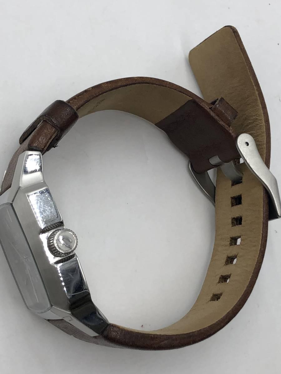 電池交換済み◎ディーゼル DIESEL メンズ腕時計 DZ-1090 ブラウン革ベルト ケース付き 稼働品 紳士_画像7