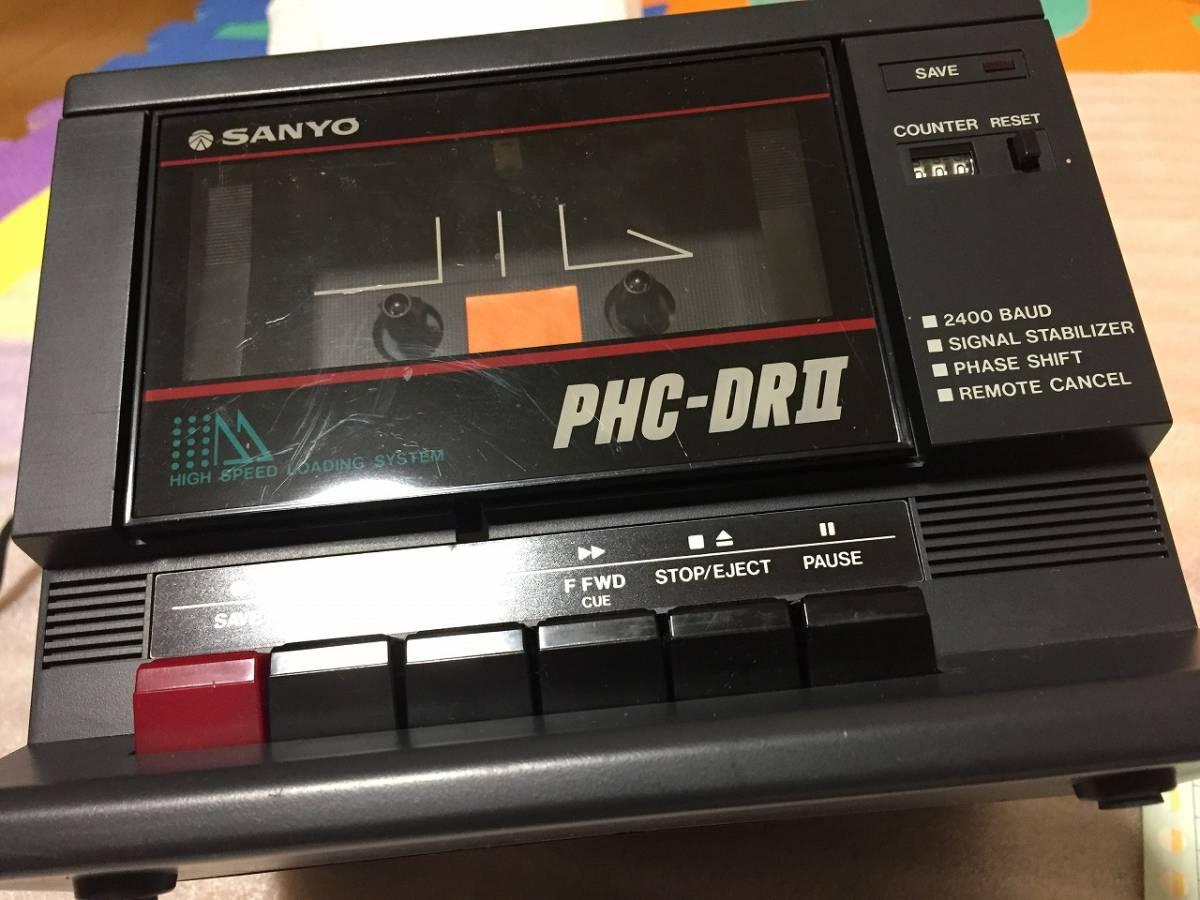 MSX SANYO PHC-DRⅡ データレコーダ DATA RECORDER 箱説あり_画像6
