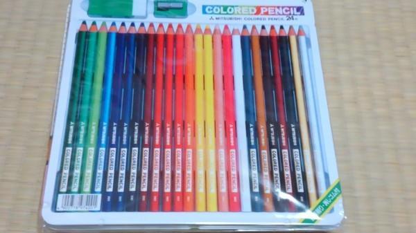 A1197 新品 三菱色鉛筆 890級 24色 鉛筆削り・消しゴム付き_画像1