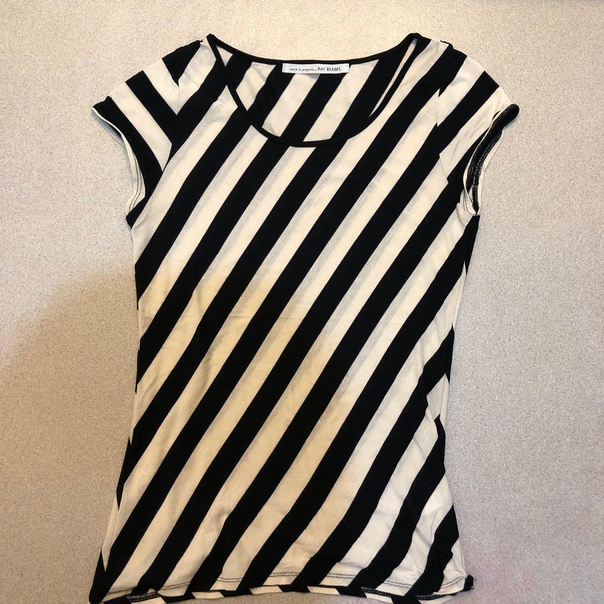 ノースリーブ 縞シャツ