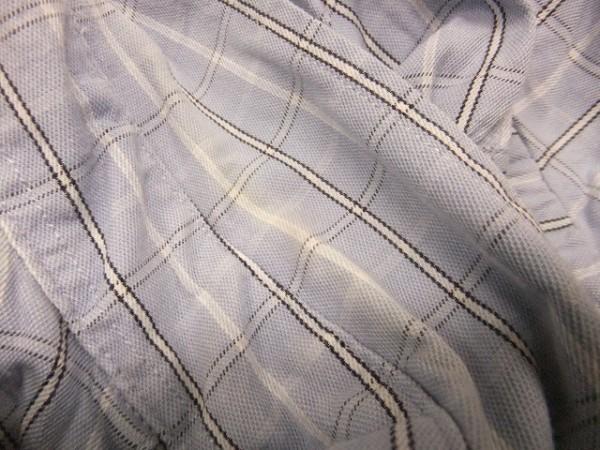 Eddie Bauer エディーバウアー XS メンズ シャツ 長袖 プラケットフロント ポケット チェック ボタンダウン 綿100% 薄紺 ライトネイビー_画像3