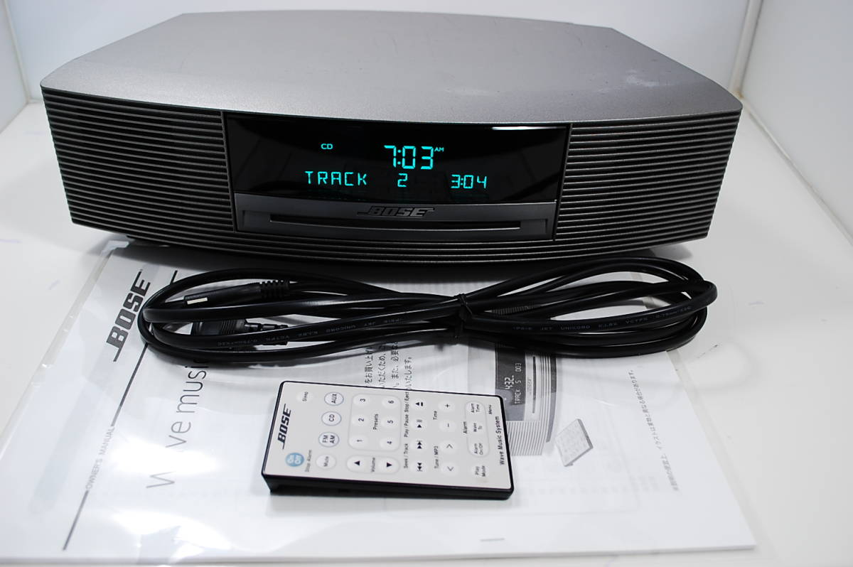 ★BOSE ボーズ WAVE Music System リモコン白(小)付 動作良好★