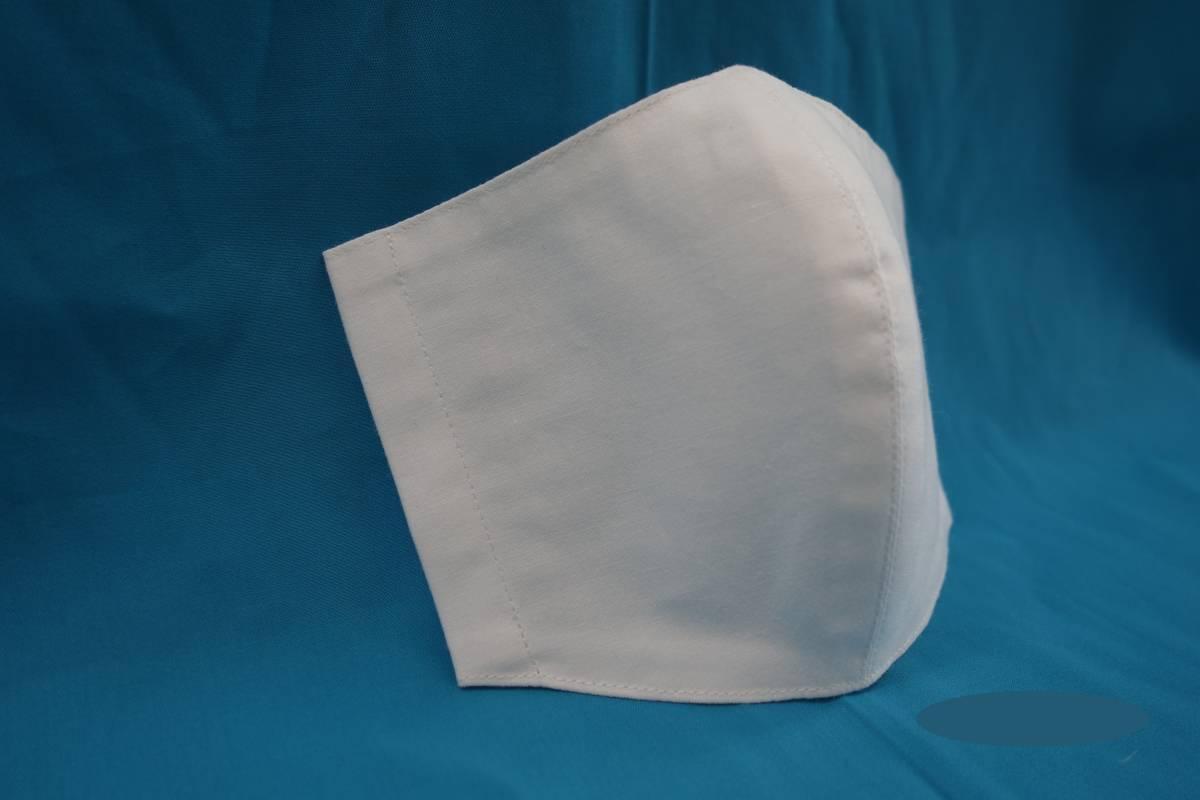 ◆綿100% ◆晒 ◆白 ◆シンプル ◆マスク用ゴム ◆立体 ◆ハンドメイド ◆使い捨てマスク節約 ◆マスクカバー ◆インナー_画像1