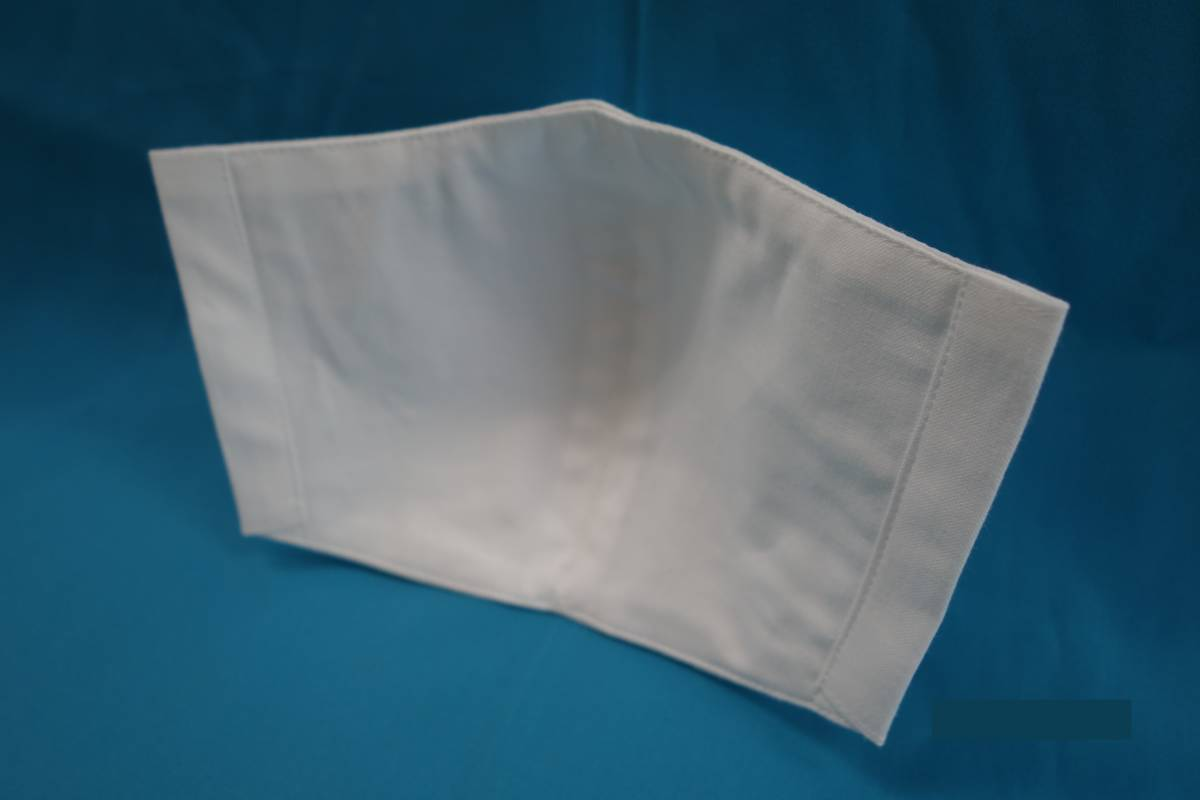 【2枚セット】◆綿100% ◆晒 ◆白 ◆シンプル ◆マスク用ゴム ◆立体 ◆手作り ◆使い捨てマスク節約 ◆マスクカバー ◆インナー_画像2