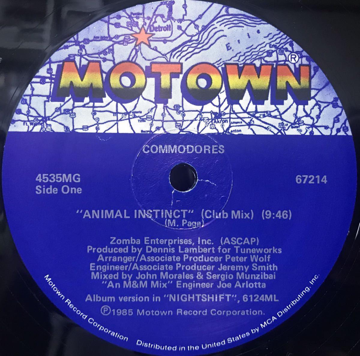 COMMODORES / ANIMAL INSTINCT 12inchレコード その他にもプロモーション盤 レア盤 人気レコード 多数出品中_画像2