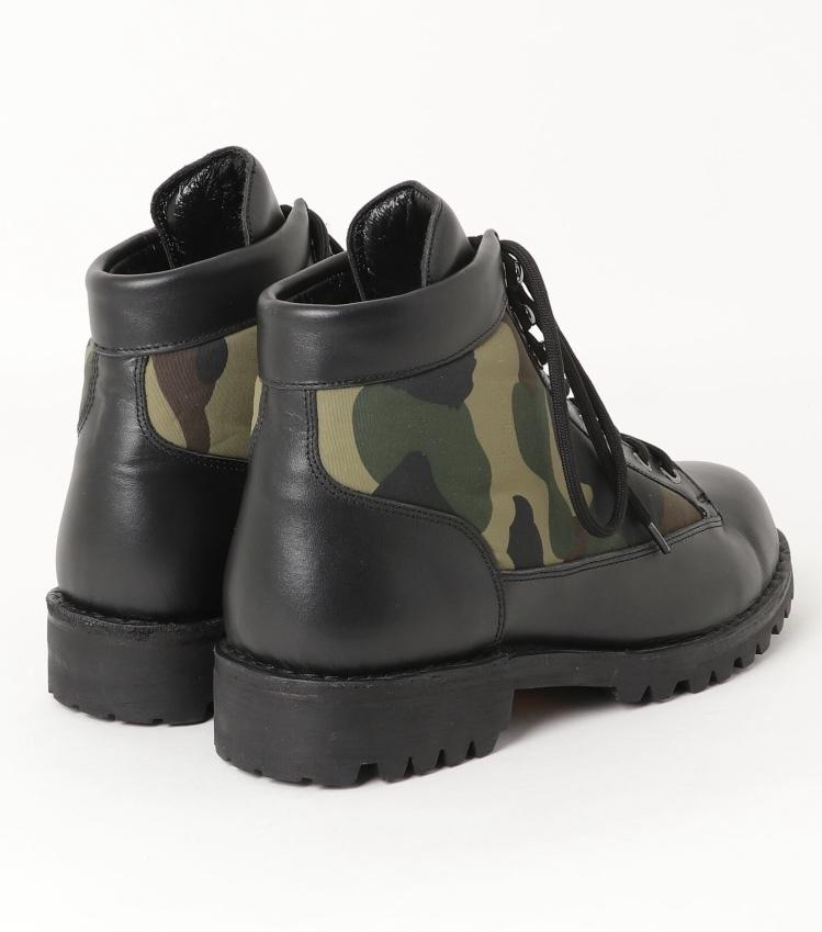 27cm A BATHING APE COMBAT BOOTS black/camo 黒 ブラック/迷彩 カモ (新品未使用/国内正規) ア ベイシング エイプ コンバットブーツ_画像6