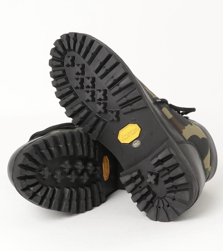 27cm A BATHING APE COMBAT BOOTS black/camo 黒 ブラック/迷彩 カモ (新品未使用/国内正規) ア ベイシング エイプ コンバットブーツ_画像5