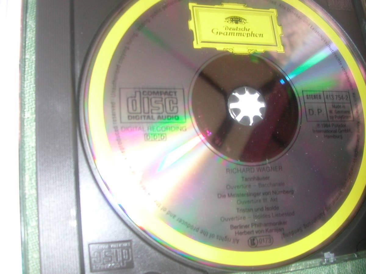 ワーグナー<管弦楽曲集>カラヤン指揮ベルリンフィル84年録音・グラモフォン84年国内品~タンホイザー序曲他・マイスタージンガー前奏曲_画像2