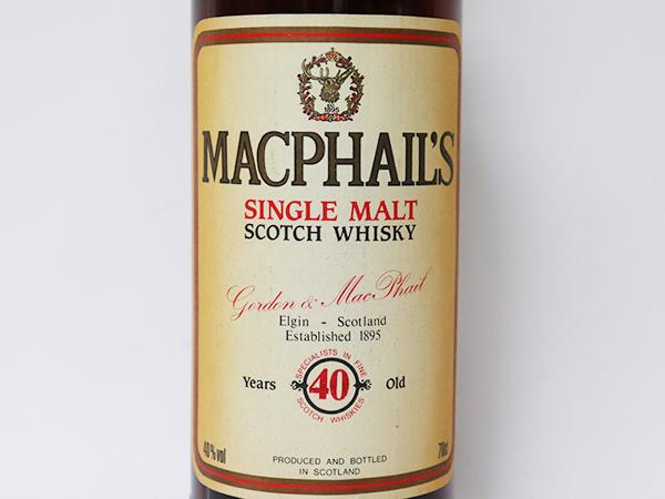 古酒★マクファイルズ 40年 シングル モルト スコッチ ウイスキー *箱付 MacPhail's アルコール度数:40% 内容量:700ml_画像3