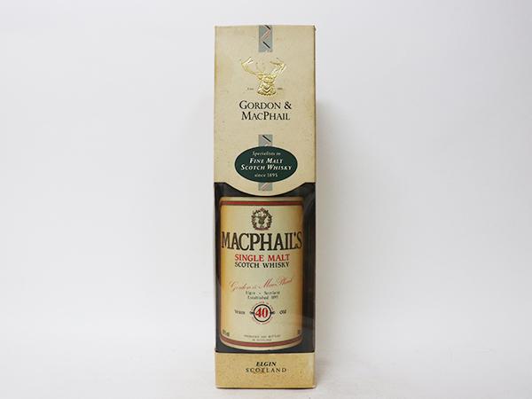 古酒★マクファイルズ 40年 シングル モルト スコッチ ウイスキー *箱付 MacPhail's アルコール度数:40% 内容量:700ml_画像1