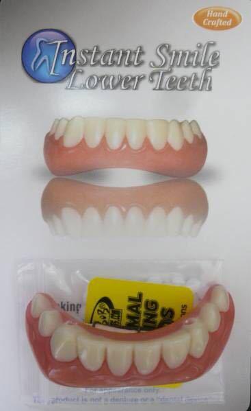 正規品直送最安/インスタントスマイル下用 美白 矯正 入歯_ハリウッドメイクの技術が生かされてます