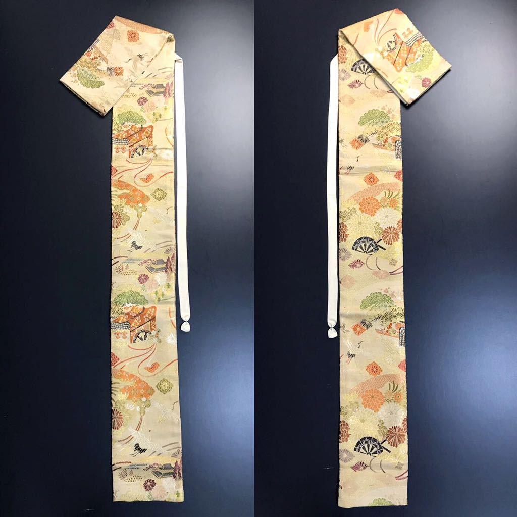 限定4本 日本刀 太刀 刀 刀袋 豪華 飛鶴華紋 御所車紋 職人ハンドメイド 100%正絹使用 一点物 E-15_画像9
