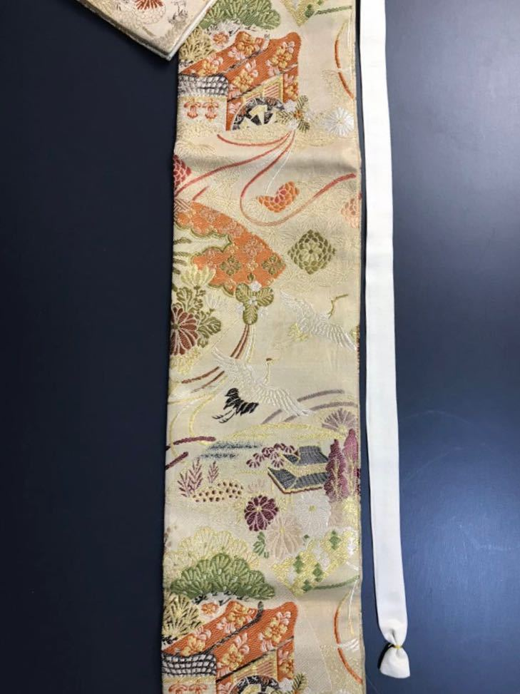 限定4本 日本刀 太刀 刀 刀袋 豪華 飛鶴華紋 御所車紋 職人ハンドメイド 100%正絹使用 一点物 E-12_画像3
