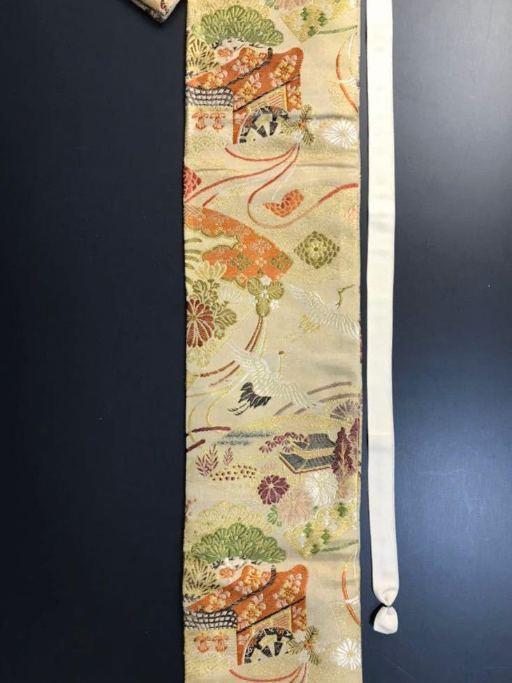 限定4本 日本刀 太刀 刀 刀袋 豪華 飛鶴華紋 御所車紋 職人ハンドメイド 100%正絹使用 一点物 E-15_画像3