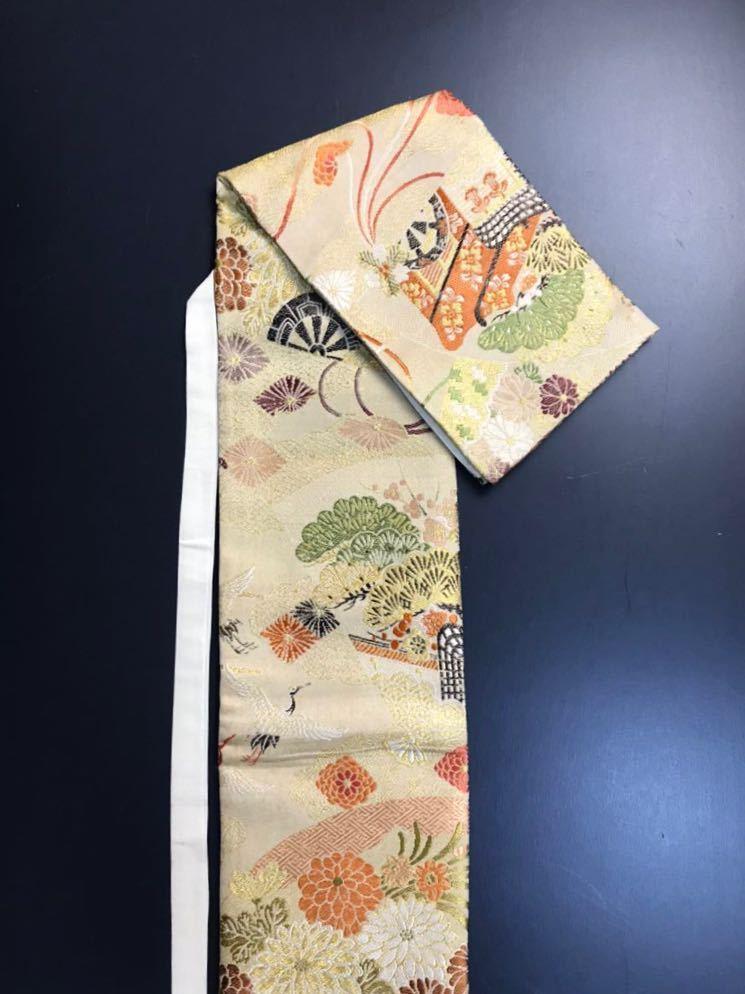 限定4本 日本刀 太刀 刀 刀袋 豪華 飛鶴華紋 御所車紋 職人ハンドメイド 100%正絹使用 一点物 E-15_画像6