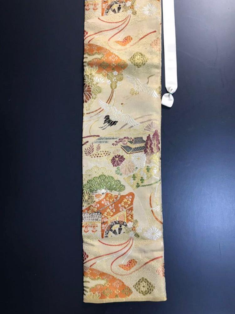 限定4本 日本刀 太刀 刀 刀袋 豪華 飛鶴華紋 御所車紋 職人ハンドメイド 100%正絹使用 一点物 E-14_画像5