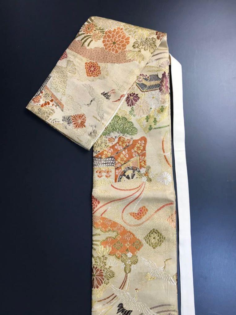 限定4本 日本刀 太刀 刀 刀袋 豪華 飛鶴華紋 御所車紋 職人ハンドメイド 100%正絹使用 一点物 E-12_画像2