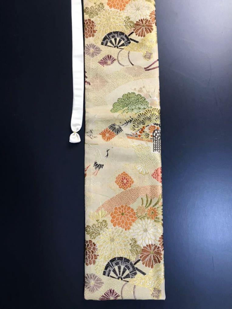 限定4本 日本刀 太刀 刀 刀袋 豪華 飛鶴華紋 御所車紋 職人ハンドメイド 100%正絹使用 一点物 E-12_画像8